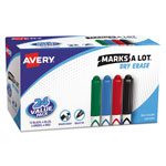 Avery Marks-A-Lot® Pen Style Whiteboard Markers, Fine, Assorted, 24/Set