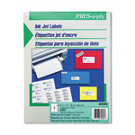 "Avery InkJet Address Labels, 6 Up, 4""x3 1/3"", White, 600/box"