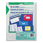 "Avery Pres-A-Ply Inkjet Address Labels, 1/2""x1 3/4"", White, 2000 per Pack"