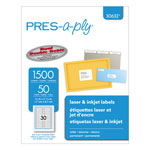 "Avery Pres-A-Ply™ File Folder Laser, 2/3""x3 7/16"", White, 1500 per Pack"