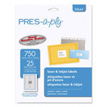 Avery PRES-a-ply Laser/Inkjet File Folder Labels, 2/3 x 3 7/16, White/Assorted Border, 750/Pack