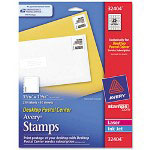 "Avery Desktop Postal Center Printable Stamps, 1 5/16""x1 5/16"", White, 250 Stamps per Pack"