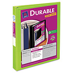 "Avery Durable View Binder with Slant Rings, 11 x 8 1/2, 1"" Capacity, Chartreuse"