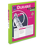 "Avery Durable View Binder with Slant Rings, 11 x 8 1/2, 1/2"" Capacity, Chartreuse"