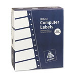 Avery Dot Matrix Printer White Addressing Labels, 4 x 1 7/16, 3 Across, 15000/Box