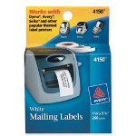 Avery Self Stick Address Labels For Label Printers, White, 1 1/8 X 3 1/2, 260/Box