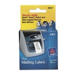 Avery Self Stick Address Labels For Label Printers, Clear, 1 1/8 X 3 1/2, 120/Roll