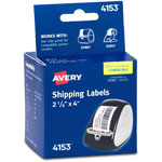 Avery Self Stick Shipping/Wide Labels For Label Printers, 2 1/8 X 4, White, 140/Roll