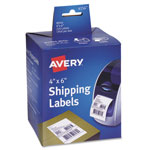Avery Thermal Printer Labels, Shipping, 4 x 6, White, 220/Roll, 1 Roll/Box