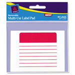 "Avery Label Pad, Multiuse, Lined, 2 5/8""x5/8"", Assorted"