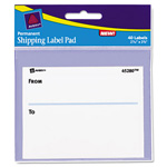"Avery Permanent Label Pads, 3""x4"", White, 40 per Pack"