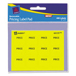 "Avery Label Pad, Price, 3""x4"", 480 per Pack, Yellow"