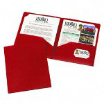 Avery Two Pocket Business Card Holder, Red, Pack of 10
