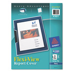 Avery Flexi View Report Cover, Blue, Pack of 2