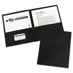 Avery Two Pocket Portfolio, Black, Box of 25