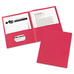 Avery Two Pocket Portfolio, Red, Box of 25