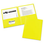 Avery Two Pocket Portfolio, Yellow, Box of 25