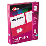 Avery Two Pocket Portfolio, Assorted Colors, Box of 25