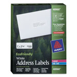 "Avery White Address Labels, 1"" x 2 5/8"""