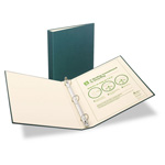 "Avery 100% Recycled EZ Turn Rings Binder, 1"" Capacity, Green"