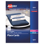 Avery Small Textured Tent Cards, White, 1 7/16 x 3 3/4, 6 Cards/Sheet, 150/Box