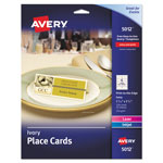 Avery Small Textured Tent Cards, Ivory, 1 7/16 x 3 3/4, 6 Cards/Sheet, 150/Box