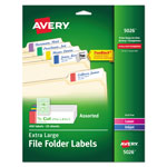 Avery Extra Large Self Adhesive Filing Labels, 450 per Pack, Assorted Colors