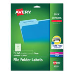 "Avery Clear Self Adhesive Filing Labels, 3 7/16""x1 5/16"", 450 per Pack"