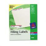 Avery Permanent Self Adhesive Laser/Ink Jet File Folder Labels, 1500/Bx, Red Border