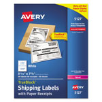 Avery Shipping Labels with Paper Receipt, 5 1/2 x 8 1/2, White, 50/Pack