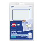 Avery Flexible Self-Adhesive Laser/Inkjet Name Badge Labels, 2-1/3 x 3-3/8