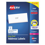 "Avery Laser Address Labels with Smooth Feed Sheets, 1""x2 5/8"""