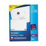 Avery White Laser Address Labels with Smooth Feed Sheets™, 5x3 1/2 Label, 400 Labels/Box