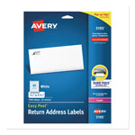 Avery White Easy Peel Laser Return Address Labels, 2/3 x 1 3/4