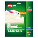 Avery Permanent Self Adhesives Laser/Ink Jet File Folder Labels, 750 per Pack, Assorted