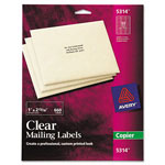 "Avery Self Adhesive Address Labels for Copiers, Clear, 1""x2 13/16"", 660 per Pack"