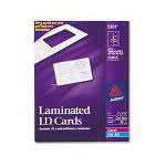Avery Laminated Laser/Ink Jet ID Cards, 2 x 3 1/4, 3 Cards/Sheet, 30 Cards/Box