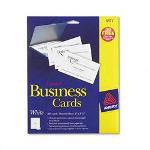 Avery Laser Business Cards, 2 x 3 1/2, White, 10 Cards/Sheet, 250 Cards/Pack