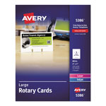 "Avery Laser/Ink Jet Rotary Cards, 3""x5"", 3 Cards/Sheet, 150 Cards per Pack"