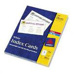 Avery Laser/Ink Jet Index Cards & Postcards, 3 x 5, 3 Cards/Sheet, 150 Cards/Box