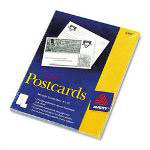 Avery Laser Postcards, 4 x 6, 2 Cards/Sheet, 100 Cards/Box, White