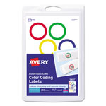 "Avery Color Coding Labels, 1-1/4"" meter, 400 per Pack, Assorted"