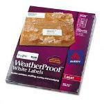 Avery Weatherproof Laser Shipping Labels, 1 x 2 5/8, 1500/Pack