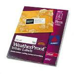 Avery Weatherproof Laser Shipping Labels, 1 1/3 x 4, 700/Pack