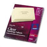 Avery Clear Laser Address Labels, 1 1/3 x 4 Label, 700/Box