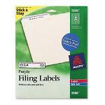 Avery Permanent Self Adhesive Laser/Ink Jet File Folder Labels, 750/Pack, Purple Border