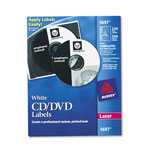 Avery CD/DVD White Matte Label for Laser Printers, 250 per Pack
