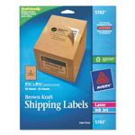 "Avery Brown Kraft Shipping Labels, 5 1/2""x8 1/2"", 50 per Pack"