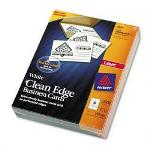 Avery Clean Edge Laser Business Cards, White, 2 x 3 1/2, 2,000 Cards/Box