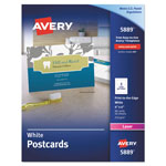"Avery Color Laser Postcards, 4 x6"", White, 2 Cards per Sheet, 80 per Pack"